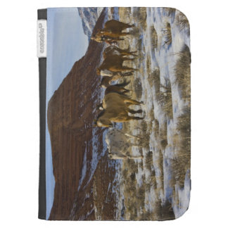 Big Horn Mountains, Horses Running in The Snow Kindle Keyboard Covers
