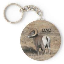 Big Horn Ram Dad Keychain