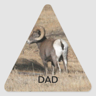 Big Horn Ram Dad Triangle Sticker