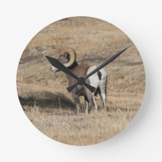 Big Horn Ram Round Clock