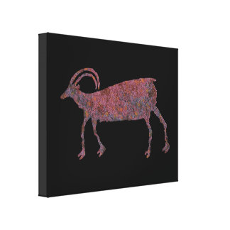 Big Horn Sheep Petroglyph Canvas Print