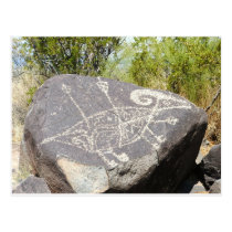 Big horn sheep petroglyph postcard