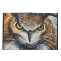 Big Horned Grumpy Owl Cover For iPad Air