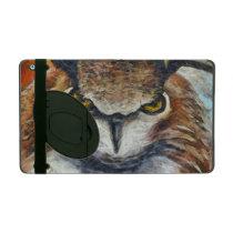 Big Horned Grumpy Owl iPad Cover