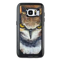 Big Horned Grumpy Owl OtterBox Samsung Galaxy S7 Edge Case