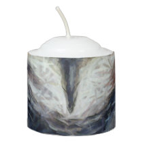 Big Horned Grumpy Owl Votive Candle