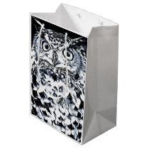 Big Horned Owl Art Medium Gift Bag