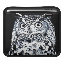 Big Horned Owl Art Sleeve For iPads