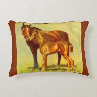 big horse little horse print accent pillow
