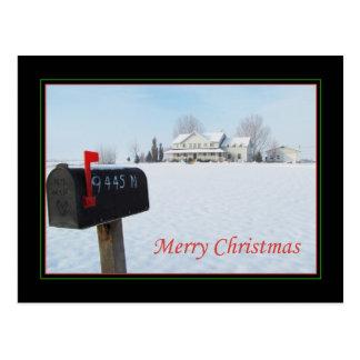 Big House on the Prairie Christmas Postcard