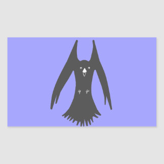 Big Hovering Crow on Multiple products Rectangular Sticker