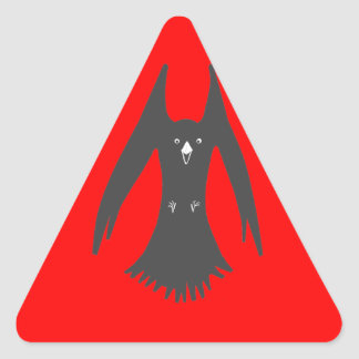 Big Hovering Crow on Multiple products Triangle Sticker