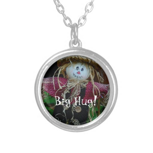 """BIG HUG!"" Cute Straw Man, Arms Wide Open Pendant"