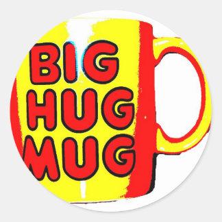 Big Hug Mug Classic Round Sticker