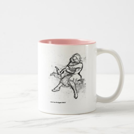 Big Hug, robin lee blodgett 2007 Two-Tone Coffee Mug
