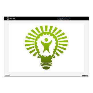 "Big Idea Lightbulb Man 17"" Laptop Skins"