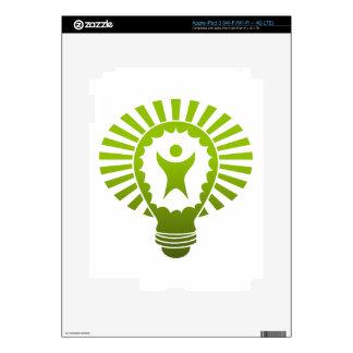 Big Idea Lightbulb Man iPad 3 Decal
