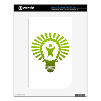 Big Idea Lightbulb Man Decal For The NOOK Color
