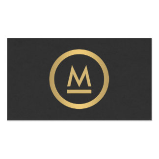 Big Initial Modern Monogram in Faux Gold Double-Sided Standard Business Cards (Pack Of 100)