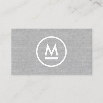 Browse products at zazzle with the theme attorney profilecard law big initial modern monogram on gray linen business card reheart Image collections
