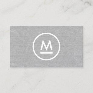 Monogram iphone cases zazzle big initial modern monogram on gray linen business card colourmoves