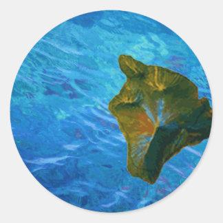 Big Island Digital Image on Ocean Classic Round Sticker