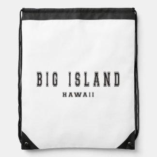 Big Island Hawaii Drawstring Bag