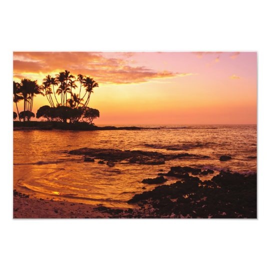 Big Island, Hawaii. Sunset, Big Island Hawaii. 2 Photo Print