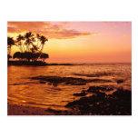 Big Island, Hawaii. Sunset, Big Island Hawaii. 2 Postcard