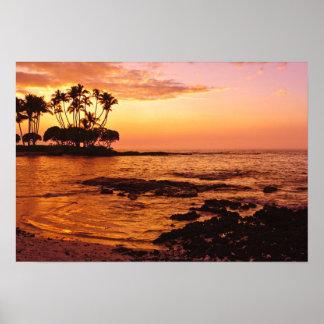 Big Island, Hawaii. Sunset, Big Island Hawaii. 2 Poster