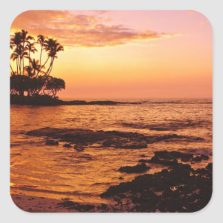 Big Island, Hawaii. Sunset, Big Island Hawaii. 2 Square Sticker