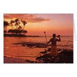 Big Island, Hawaii. Sunset, Big Island Hawaii. Card