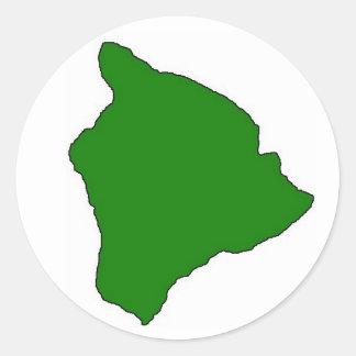 Big island sticker green