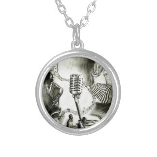 Big Jazz Silver Plated Necklace