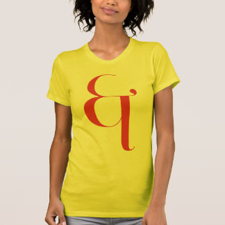 Big &: Jeanne Moderno Lettres Shirt
