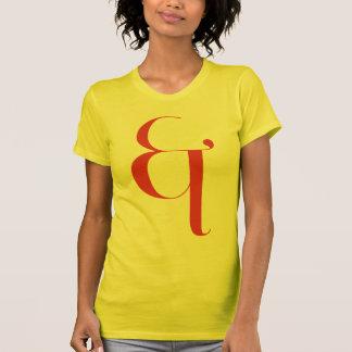 Big &: Jeanne Moderno Lettres Tee Shirt