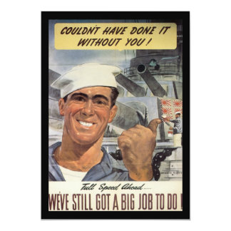 Big Job To Do World War 2 Card