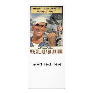 Big Job To Do World War 2 Rack Card Design