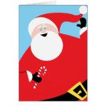 Big Jolly Santa Card