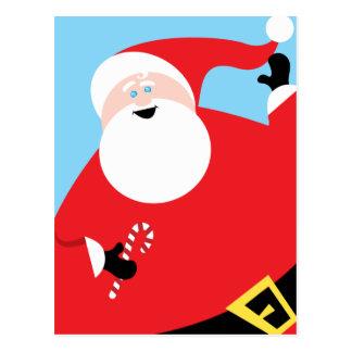 Big Jolly Santa Postcard