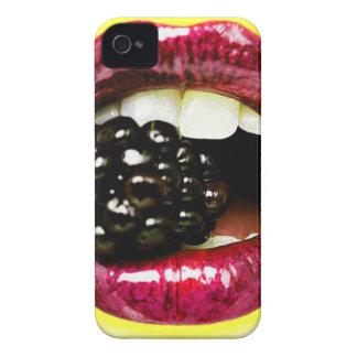 Big Juicy Lips Biting a Big Juicy Blackberry iPhone 4 Case-Mate Case
