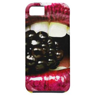 Big Juicy Lips Biting a Big Juicy Blackberry iPhone SE/5/5s Case