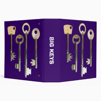 Big Keys (2.0 in) - Deep Purple Binder