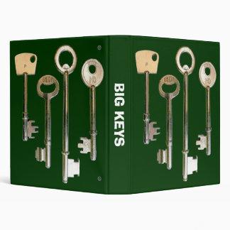 Big Keys - Dark Green 3 Ring Binder