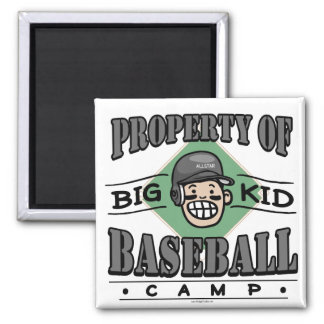 Big Kid Baseball Camp Black Helmet Magnet