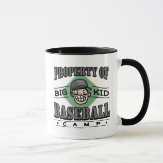 Big Kid Baseball Camp Black Helmet Mug