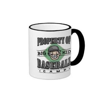 Big Kid Baseball Camp Black Helmet Mug