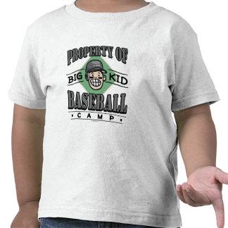 Big Kid Baseball Camp Black Helmet T-shirt