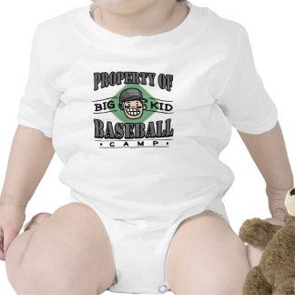 Big Kid Baseball Camp Black Helmet Tshirt