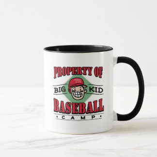 Big Kid Baseball Camp Black Red Mug